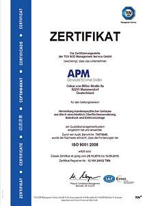 ISO Zertifikat - Qualität